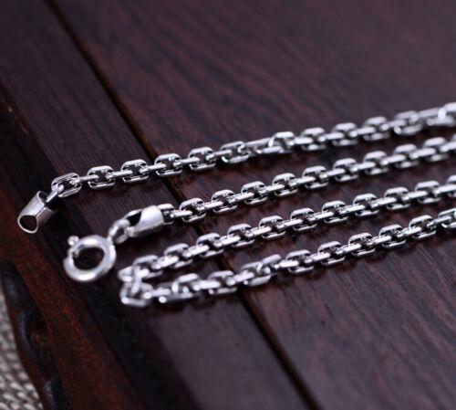 I01 Herren Damen Kette 3 mm Ankerkette Sterling Silber 925 Länge wählbar
