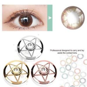 Pentagram Shape Contact Lens Box Travel Lenses Storage Case Eye Kit