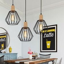 Wood pendant light modern ceiling lights black lamp kitchen wood pendant light modern ceiling lights black lamp kitchen chandelier lighting no 3pcs mozeypictures Image collections