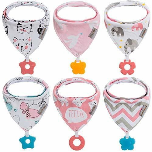 3-Pack Boy A Baby Bandana Drool Bibs for Boy 3-Pack with Teething Toys 100/% Organic Cotton Super Absorbent and Soft Dinosaur Airplane Unisex