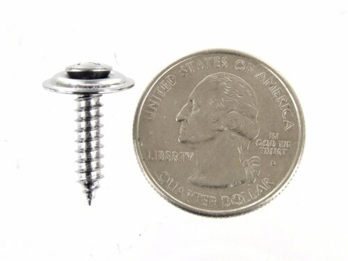 """75 screws #332 3//4/"""" to 1-1//4/"""" Ford Truck Chrome #8 Loose Washer Trim Screws"""