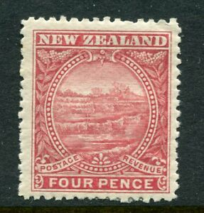 NEW-ZEALAND-1898-4d-terraces-mint