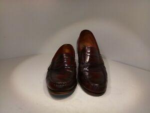 52130f52e49 ALLEN EDMONDS Men s Dress Shoes Walden Burgundy Loafer Size 12 C 6 ...