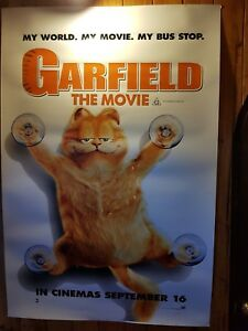 Garfield The Movie Large Vinyl Finish Original Movie Bus Stop Poster Ebay