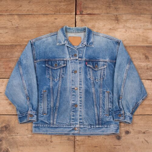 Womens R9840 Stonewash 12 Tab Red Denim Large Blue Trucker Jacket Levis Vintage 6Pqrwa6