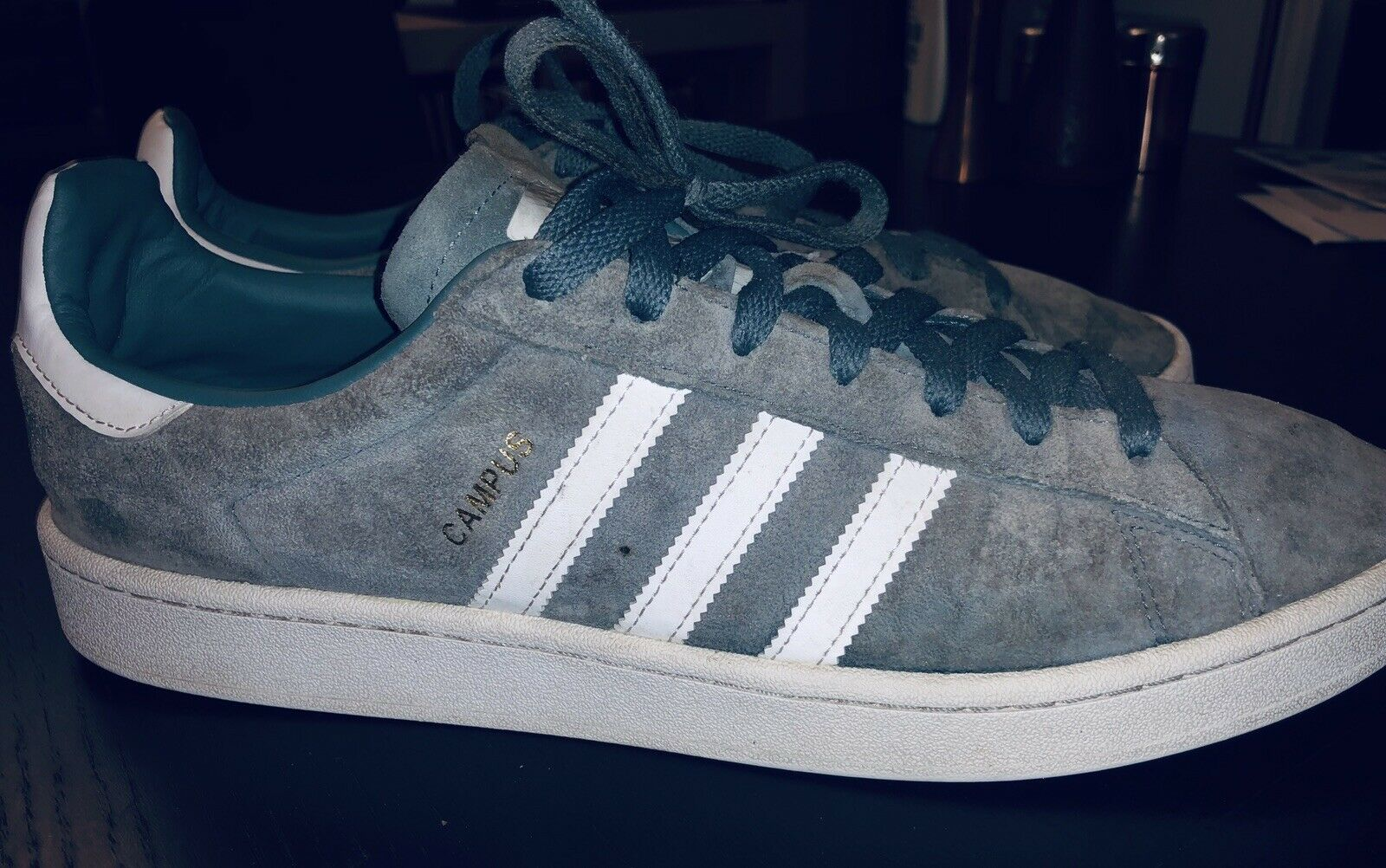 separation shoes f3bf6 8cb3d New ADIDAS Originals Mens Stan Smith ICE BLUE Sneakers 12.5 Blue Suede Shoes