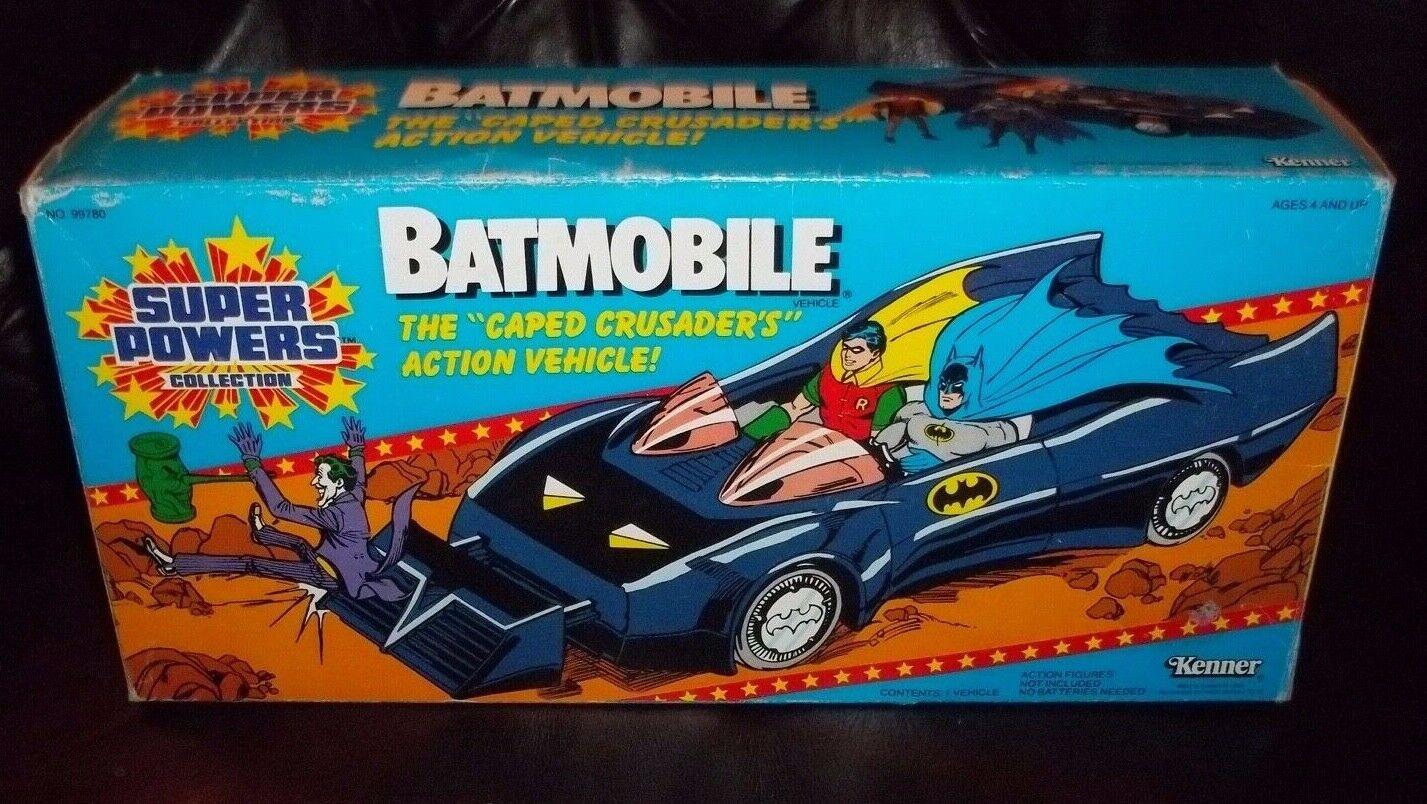 DC SUPER SUPER SUPER POWERS SERIES BATMAN'S BATMOBILE CAR KENNER 1984 b B b 54592c