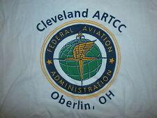vtg FAA FEDERAL AVIATION ADMINISTRATION T SHIRT Cleveland Oberlin Pilot Airplane