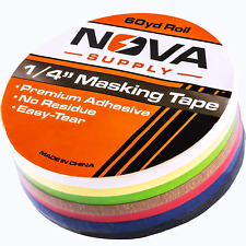 Premium 7 Color Value Pack Of 14in X 60yd Adhesive Masking Tape Use In Arts An