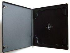 100 x 7 mm Dimensioni Metà Slim singolo Nero CD DVD CASE casi con coperchio trasparente manica
