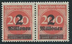 DR-Deutsches-Reich-1923-MiNr-309-IIA-P-c-INFLA-geprueftes-Paar-Infla-Berlin