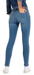 Wrangler-High-Rise-Skinny-Flex-Stretch-Jeans-Womens-Ladies-Perfect-Blue-Denim