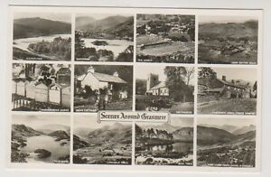 Cumbria postcard - Scenes around Grasmere (Multiview showing 12 views) (A75)