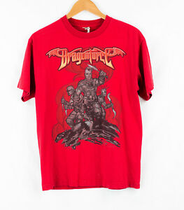 Vintage-Dragonforce-Red-Mens-Used-T-Shirt-Size-M