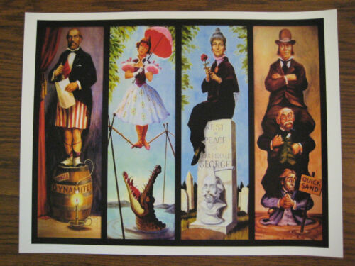B2G1F T1 Collector/'s Poster Print Vintage Disney Mansion Stretching Room
