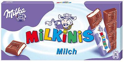 Milka Swiss Alp Milk Chocolate MILKINIS 8 choco bars box 87.5g