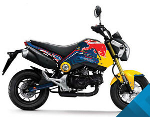 Honda Grom & MSX125 Red Bull Decals Sticker Graphics (Muliple Colors ...