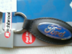 Richbrook-Ford-Collection-New-Leather-KEYRING-FOB-with-Ford-Logo