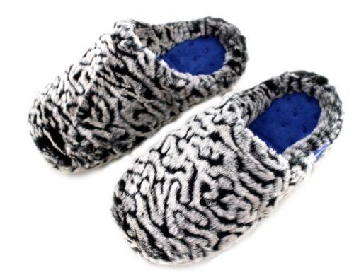 pelliccia Pantofole eco mulo da lavabile donna Totes Suola imbottite resistente nero in grigio qTwqvCFx