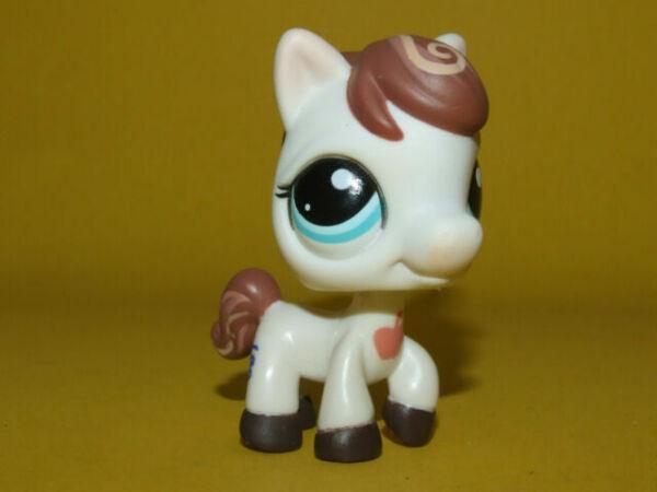 Littlest Pet Shop Cream Brown Swirled 1616  Mane Apple Horse Pony Lps