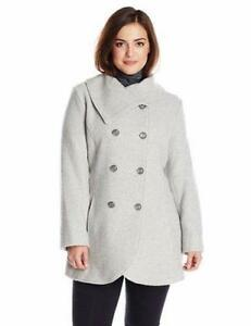 Jessica Wool Breasted Plus nwt Size Double Simpson® Coat Grey 320 rPUqr