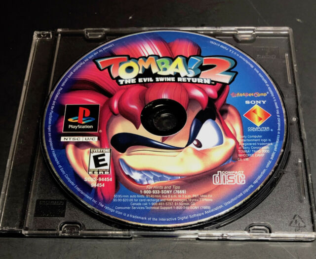 Tomba 2 The Evil Swine Return ~ DISC ONLY ~ PlayStation PS1 PS2 PS3