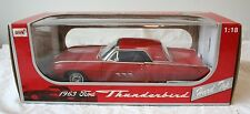 1963 Ford Thunderbird Hard Top Diecast Car Anson 1:18 Red    Box