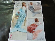 LARGE PRINT Vintage Crochet Pattern Frilled Edge Dress 4 Sizes Fit 19-22in Chest