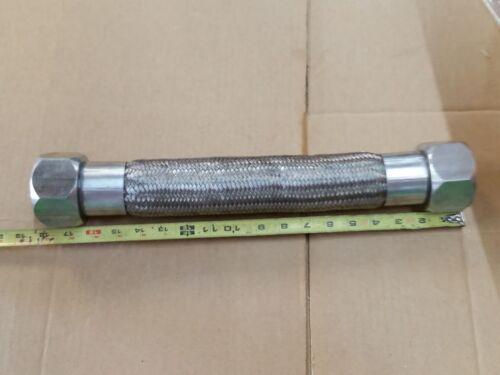 "2""ID tube Stainless Steel Flex Hose app 15 inch work length"