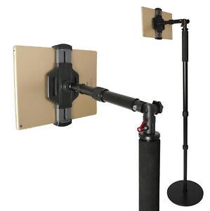 Photecs® Tablet-Bodenständer Pro V3 mit Teleskop-Ausleger, höhenverstellbar 2m