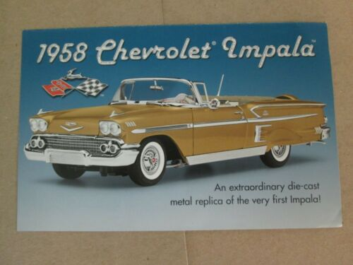 Danbury Mint Brochure 1958 Chevy Impala
