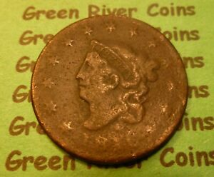 1816  U S Coronet Head Large  Cent   # 16F      (1816-1839) cull