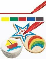 Wilton 5 Fine Tip Primary Food Writer Edible Color Markers Candy Pens Decorating