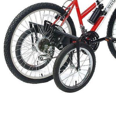 Little World Training Wheels Heavy Duty Rear Wheel Bicycle Stabilizers Mounted