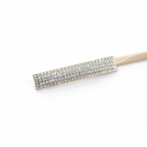 Women Wedding Gold Silver Diamond Strachable Snake Chain Waist Belt Metal Buckle