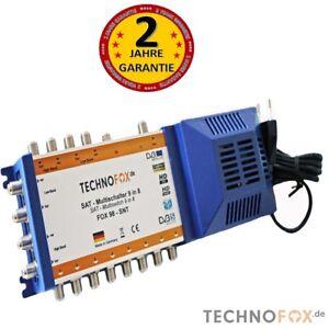 Multischalter-9-8-mit-Netzteil-8-Teilnehmer-4K-HDTV-3D-sky-DVBS-MADE-IN-GERMANY