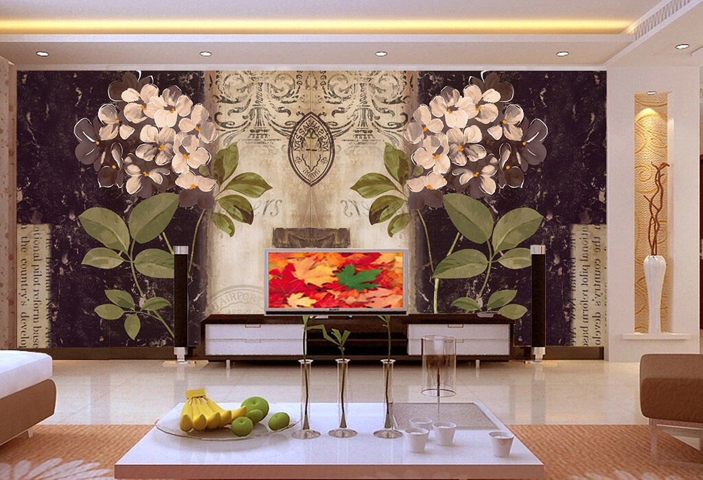 3D Großen whiteen blüten 81 Fototapeten Wandbild Fototapete BildTapete Familie DE