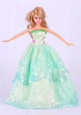 Wholesale  Handmade Green The original soft clothes dress for barbies doll 48