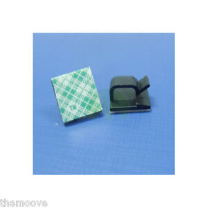 100x-Self-adhesive-Rectangle-Wire-Tie-Cable-Mount-Clamp-Clip-for-Home-Applicance