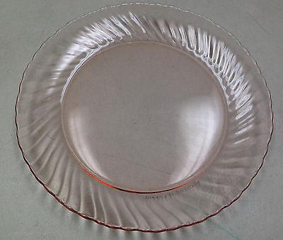 "ARCOROC France Blush Pink Rosaline Floral Glass Salad Dessert Plate 7 1//2/"""
