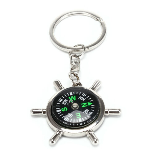 Compass Rudder Key Chain Glossy Alloy Keychain Keyrings Gifts STPD LDUK S/_BJ