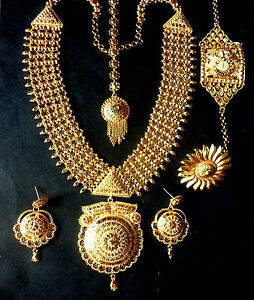 Sale for 7 days indian 1 gm gold plated necklace earrings image is loading sale for 7 days indian 1 gm gold aloadofball Images