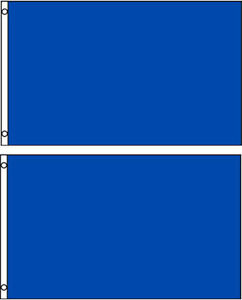 ( Pack 2 Lot) 3x5 Bleu Royal Solide Blanc Uni Couleur Drapeau 0.9mx5 'bannière Uz9u0fsj-10044741-498428820