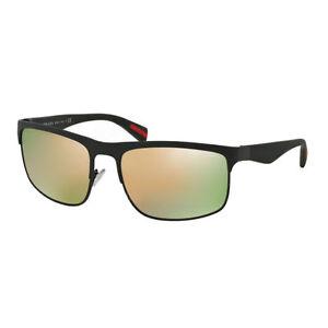 6257e6ac43a53 ... grey mirror rose gold c115a b0a46  spain image is loading prada sport  sunglasses ps56ps uaz2d2 green rubber frame bc1f6 dc4ec