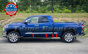 2007-2019-Toyota-Tundra-Double-Extended-Cab-Short-Bed-Body-Side-Molding-Trim-8Pc