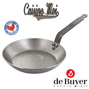 De-Buyer-Poele-en-acier-Carbone-sans-revetement-NEUF