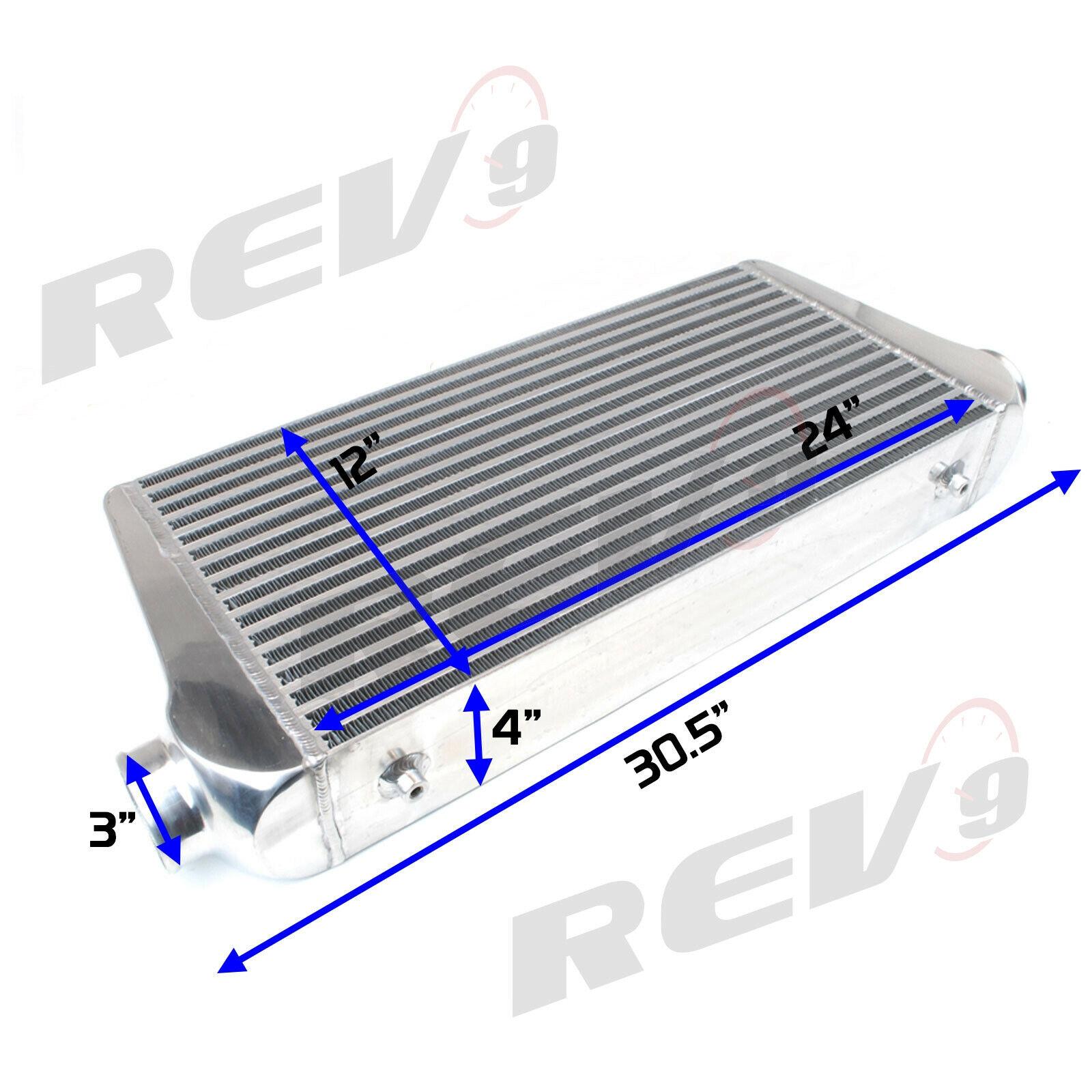 REV9 UNIVERSAL SPEC R TURBO INTERCOOLER FMIC ALUMINUM 30.5X12X4 400-800HP 3inch