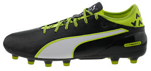 Puma-Evotouch-2-Ag-Football-Boots-Leather-Black-Lime-White-180490