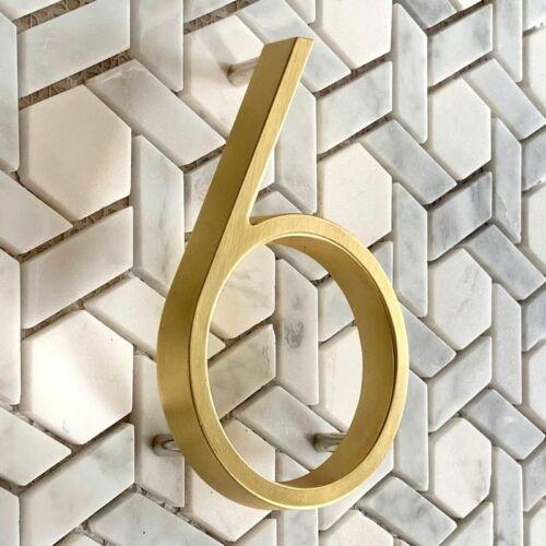 Door Home Address Numbers Big House Digital Outdoor Golden Floating Sign Plates