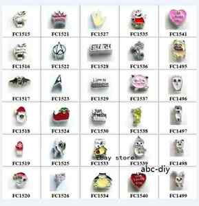 Hot-10pcs-mix-style-Floating-Charms-Living-Memory-Glass-Locket-Free-Shipping